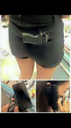 iPhone, ecco la cover a forma di pistola