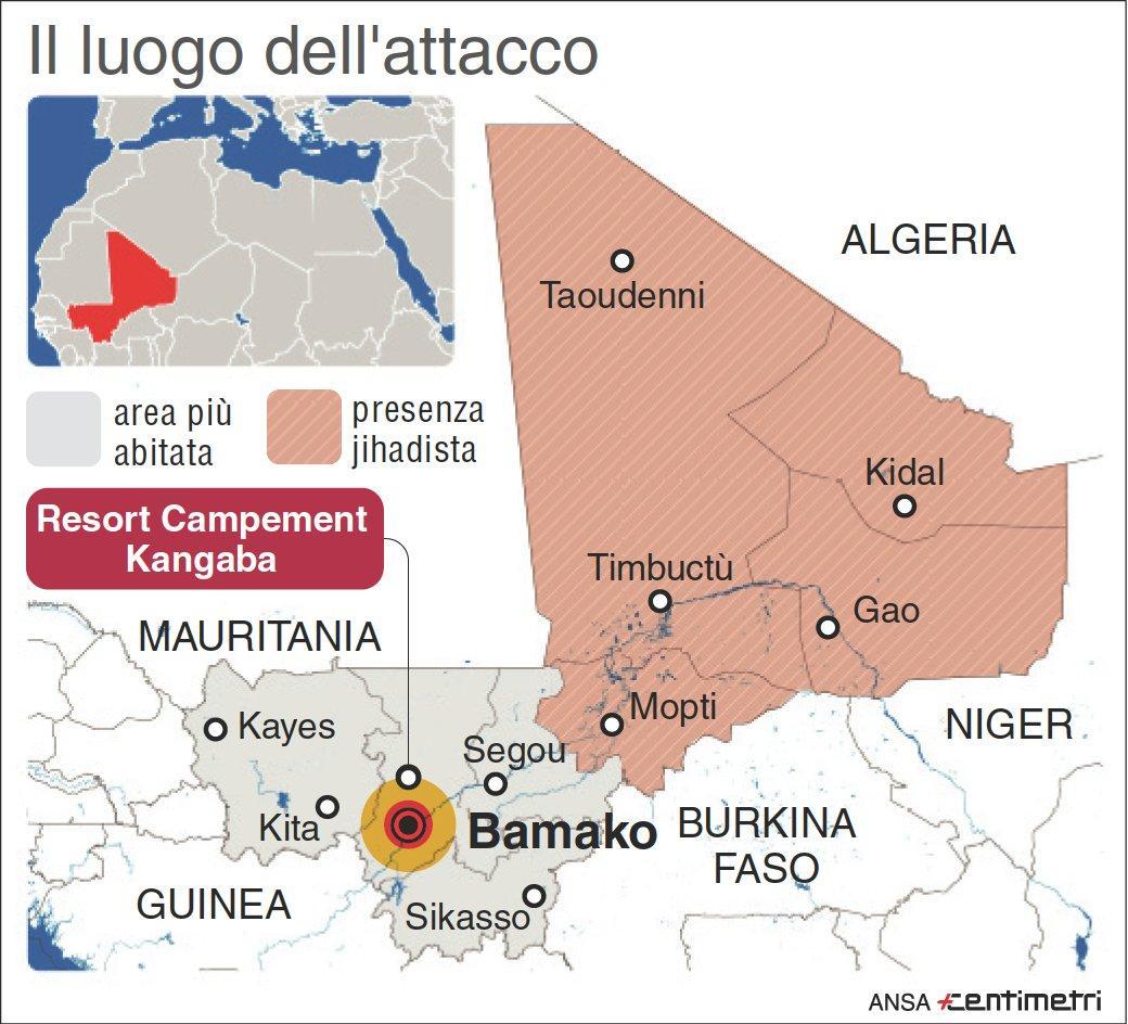 Assalto a resort in Mali: la mappa