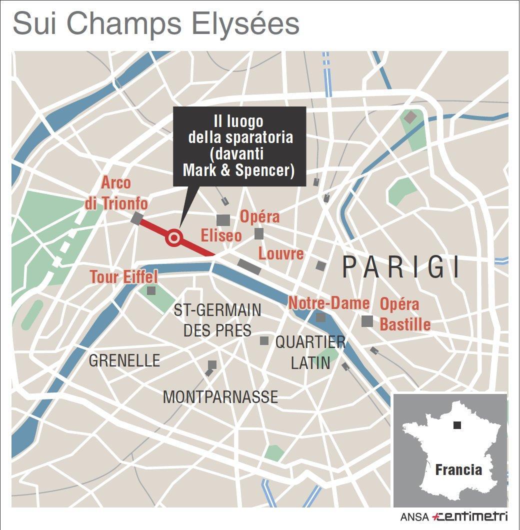 Attentato a Parigi: il luogo della sparatoria