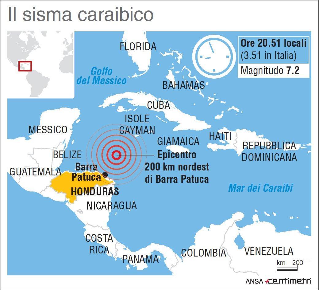 Sisma nel mar dei caraibi magnitudo di 7 2 infografica for Disegni di case dei caraibi