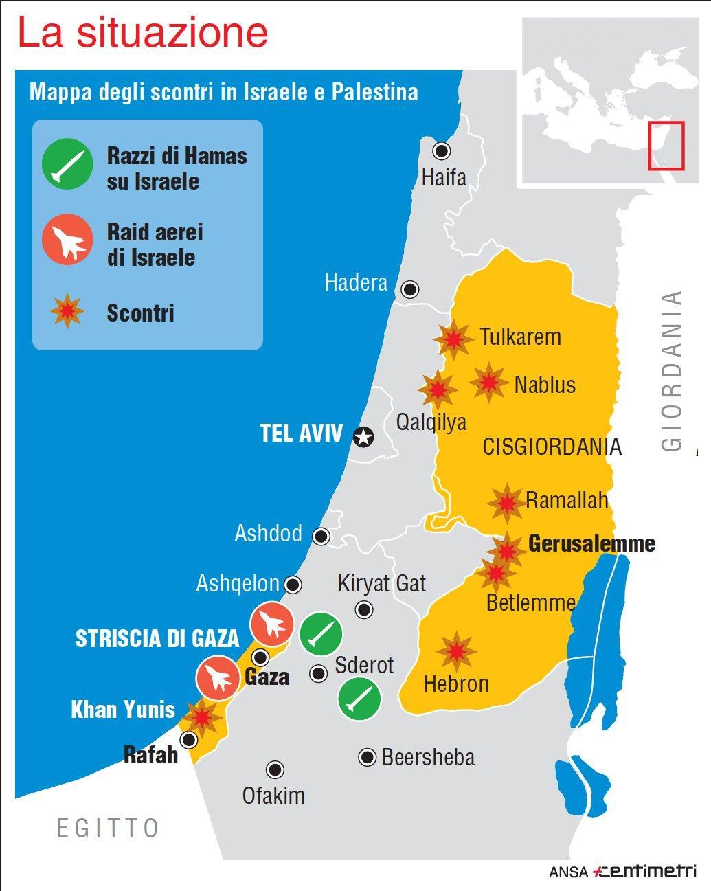 Gerusalemme capitale la mappa degli scontri infografica for Sedia fortnite