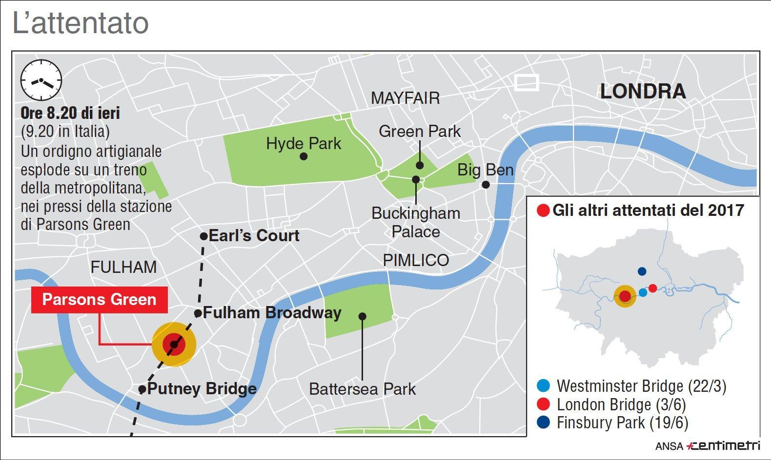 Attentato a Londra, il luogo dell attacco