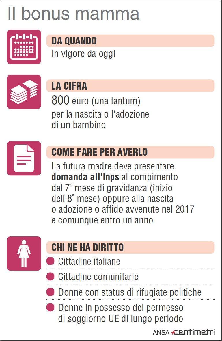 Bonus di 800 euro per le mamme ecco chi ne ha diritto e for Viaggiare con ricevuta permesso di soggiorno 2017