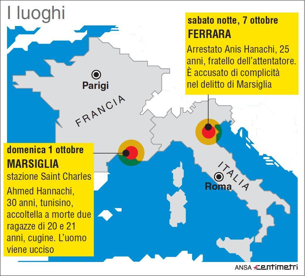 Attentato a Marsiglia, arrestato a Ferrara un fratello del killer