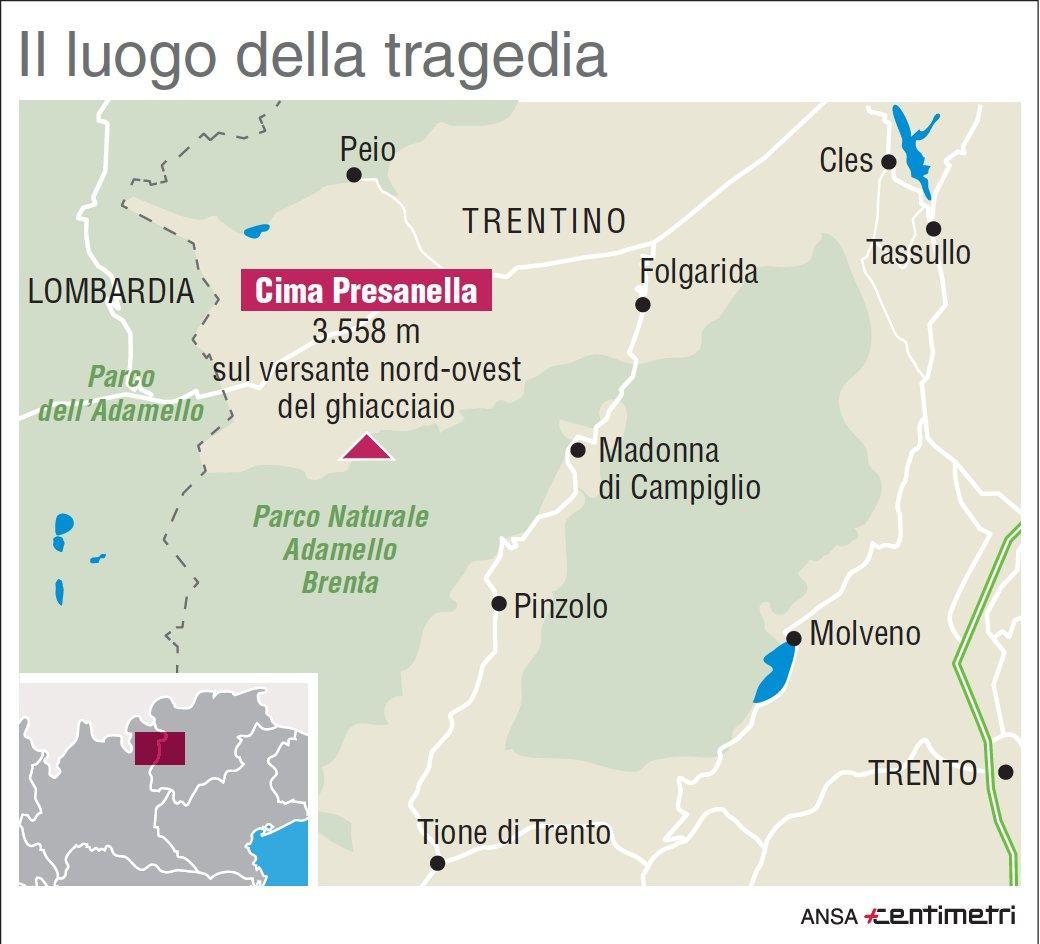 Tragedia sulle montagne del Trentino