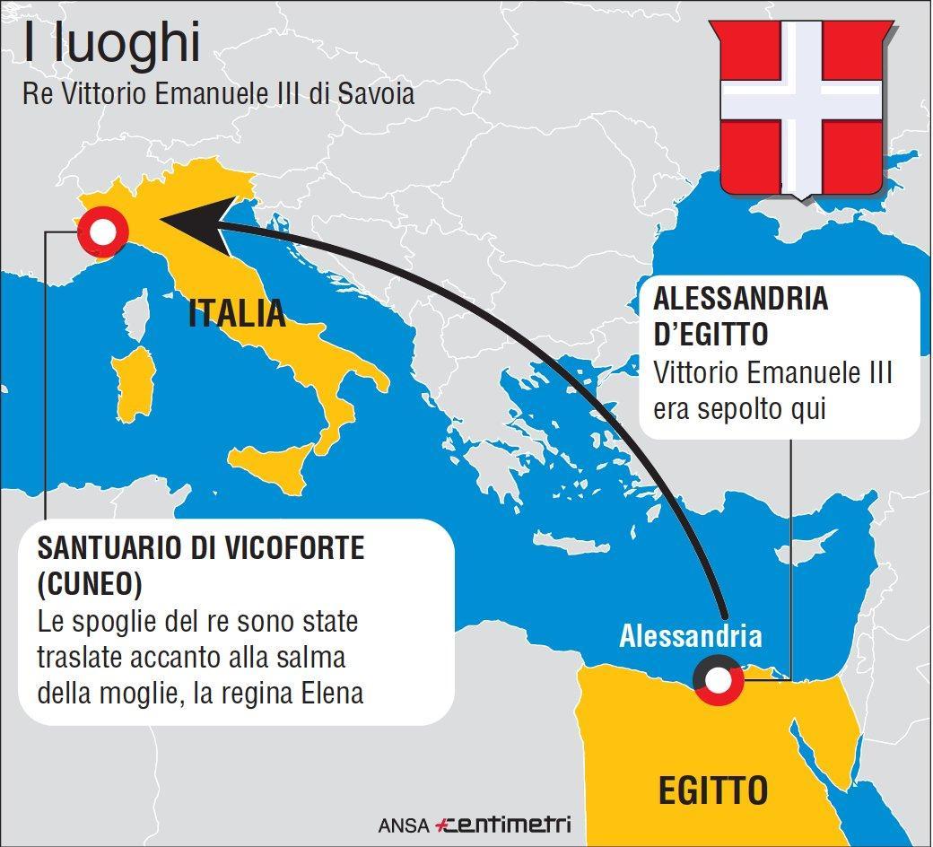 Il ritorno in Italia delle salme dei Savoia