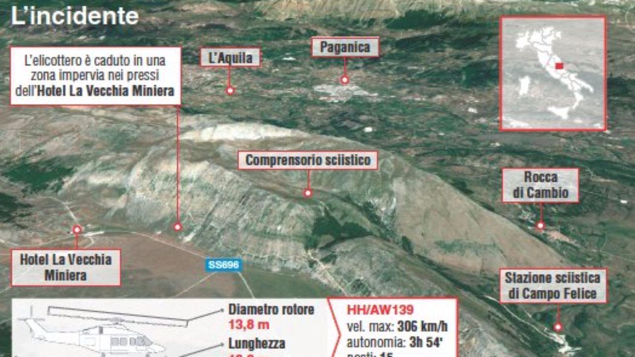 Elicottero Mediaset : Elicottero del precipitato la scheda dell incidente
