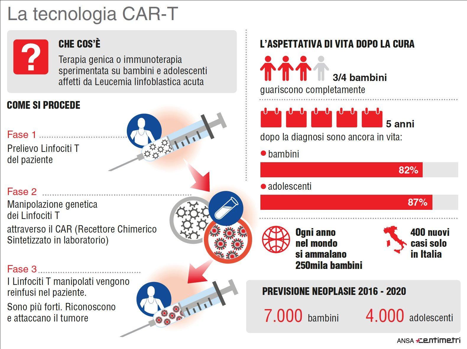 Cellule riprogrammate contro tumore, ecco cos è la Tecnologia CAR-T