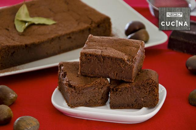 Torta di castagne e cioccolato tgcom24 for Dolce di castagne