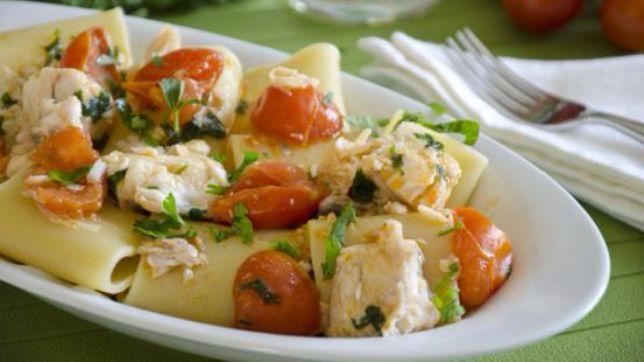 Paccheri con persico e pomodorini tgcom24 for Primi piatti particolari