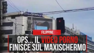Filippine, ops... il video porno finisce sul maxischermo