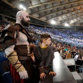 God of War: Kratos era allo stadio per Lazio - Roma