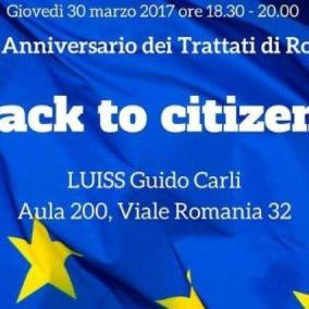 Back to the citizens , l Ue incontra i giovani a Roma