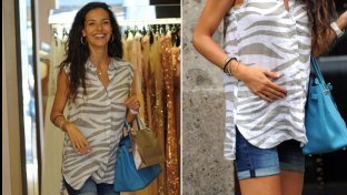 Laura Barriales, shopping milanese con il pancione