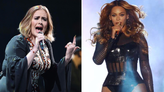 Agli Mtv Video Music Awards è sfida tra le due rivali Beyoncé e Adele