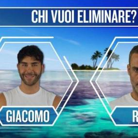 Isola dei Famosi : Nathaly eliminata, Raz e Giacomo in nomination