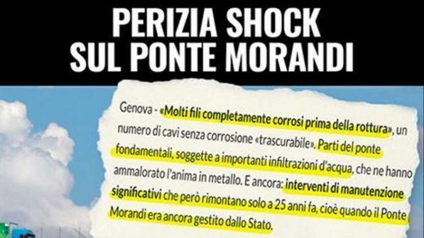 """Ponte Morandi, Di Maio: """"Perizia da brividi, via la concessione ad Autostrade"""""""