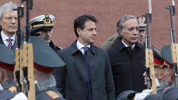 """Conte in visita da Putin: """"Disponibili al dialogo con la Russia"""""""