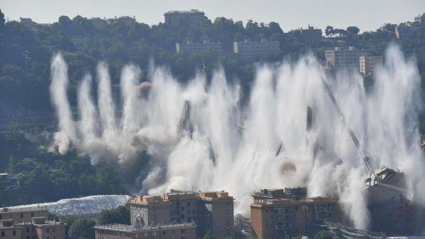 Ponte di Genova, oggi la demolizione
