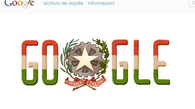 Google festeggia la Repubblica italiana con un doodle ma sbaglia i colori