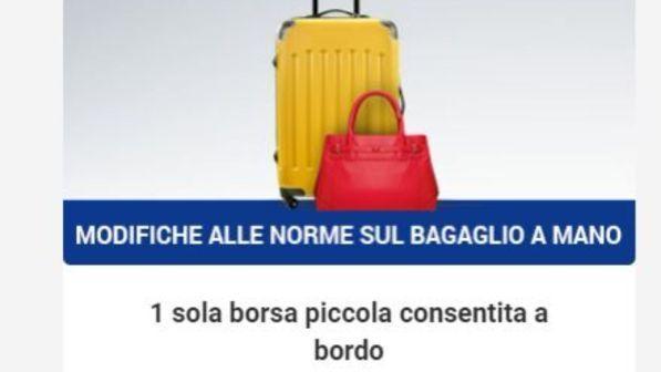 daea8f6126 Ryanair, nuove regole per il bagaglio a mano: gratis in cabina solo borse e