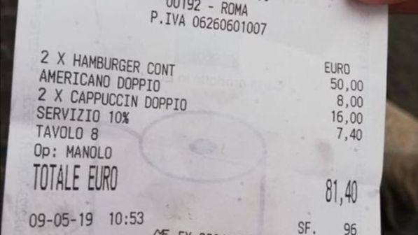 Hamburger e cappuccino a due passi da San Pietro? 81 euro: lo scontrino-shock.
