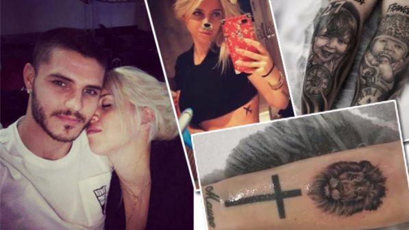 Mauro Icardi e Wanda Nara, nuovi tatuaggi per la coppia