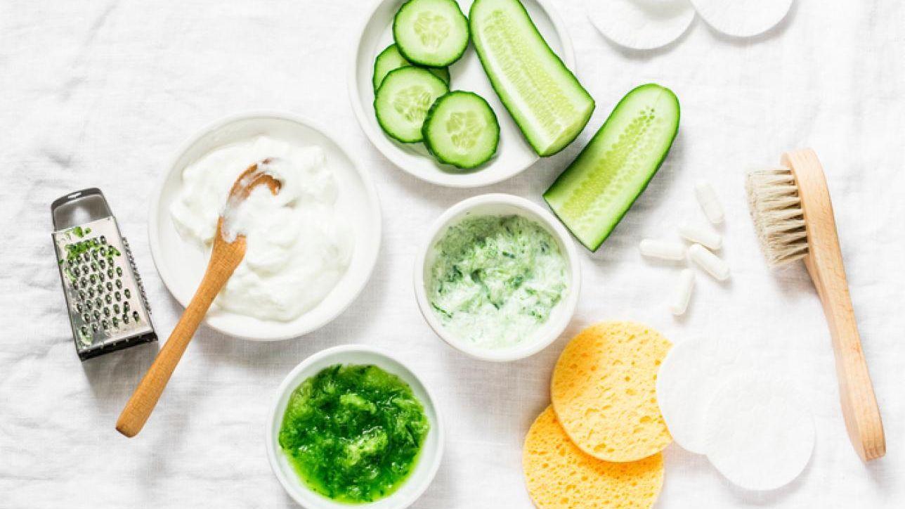 maschera cetriolo e yogurt