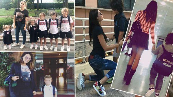 c7e77c1565 Primo giorno di scuola da vip: guarda le foto dei figli famosi - Tgcom24