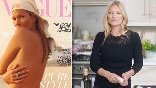 Kate Moss su Vogue tra topless e consigli... in cucina - Tgcom24