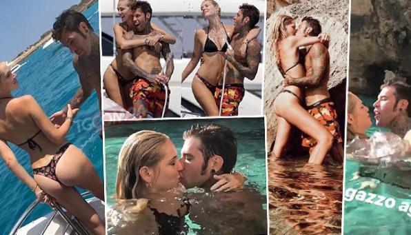 Ferragni e Fedez, guarda che acrobazie d'amore a Ibiza