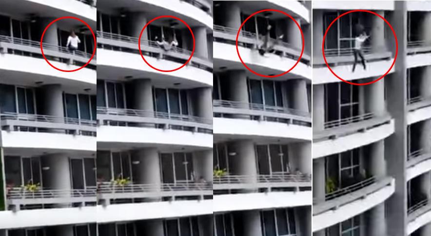 panama, precipita e muore per un selfie dal balcone (video)
