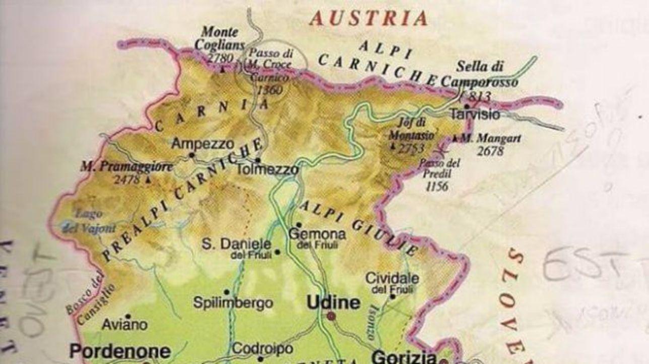 Cartina Bianca Italia