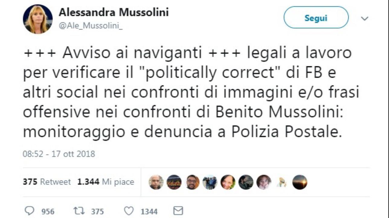 Alessandra Mussolini Denuncio Chi Usa Frasi Offensive Su Mio