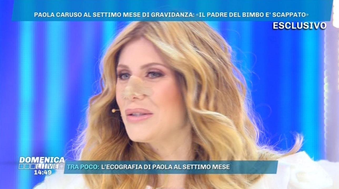 Paola Caruso incinta di sette mesi soffre in diretta, Barbara d'Urso ...