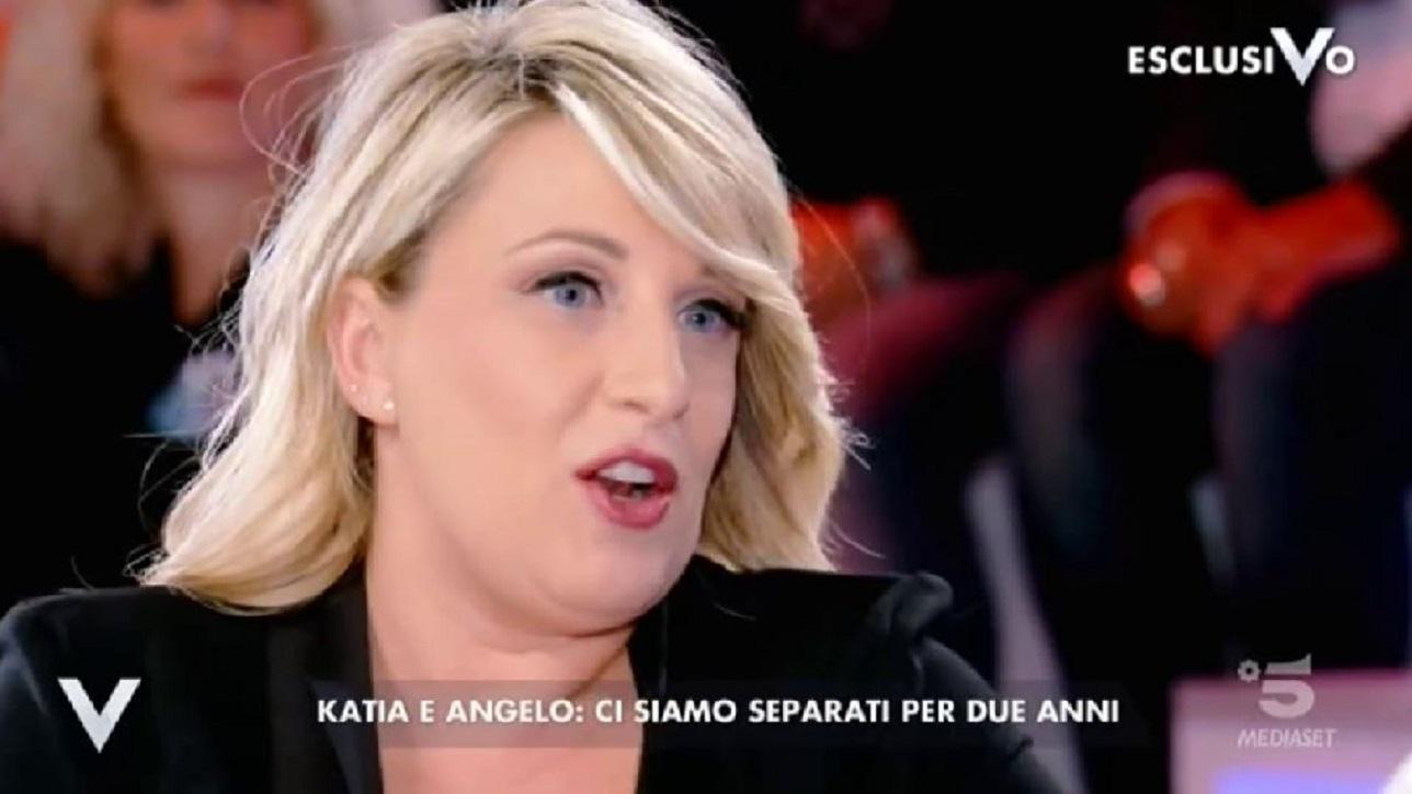 """a1d05100b097 Katia Follesa a """"Verissimo""""  """"Separazione con Angelo è stata necessaria"""