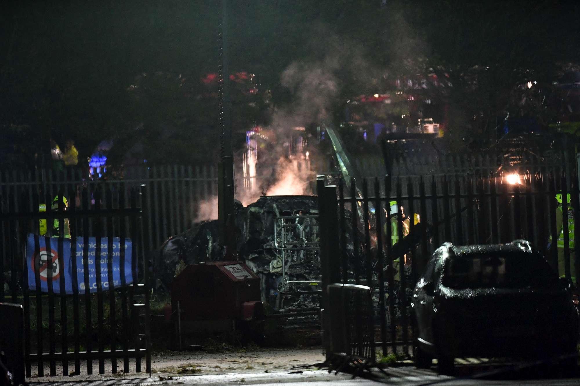 Leicester, precipita ed esplode l'elicottero del proprietario della squadra di calcio