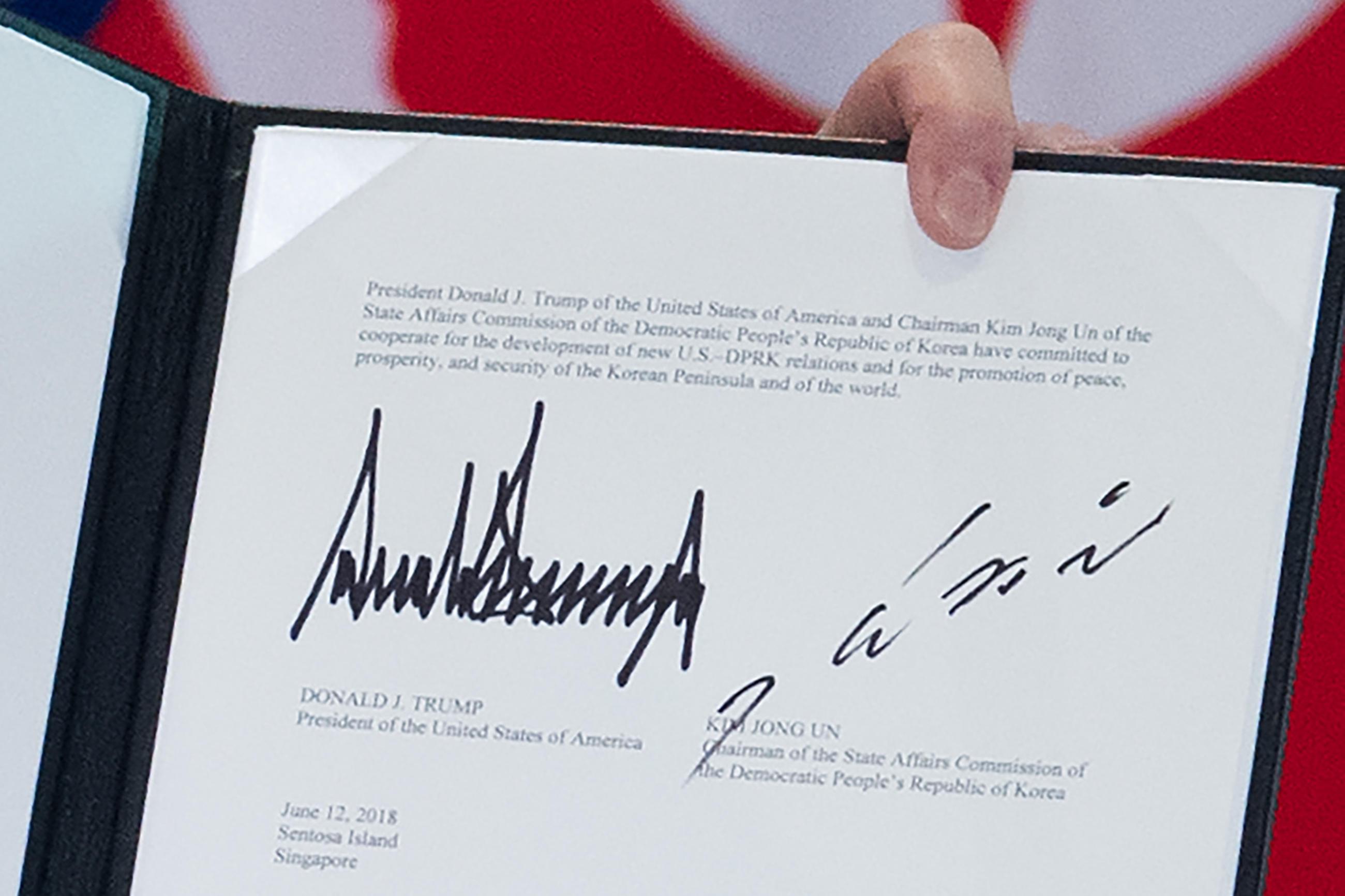 Usa-Corea del Nord, il testo dello storico accordo
