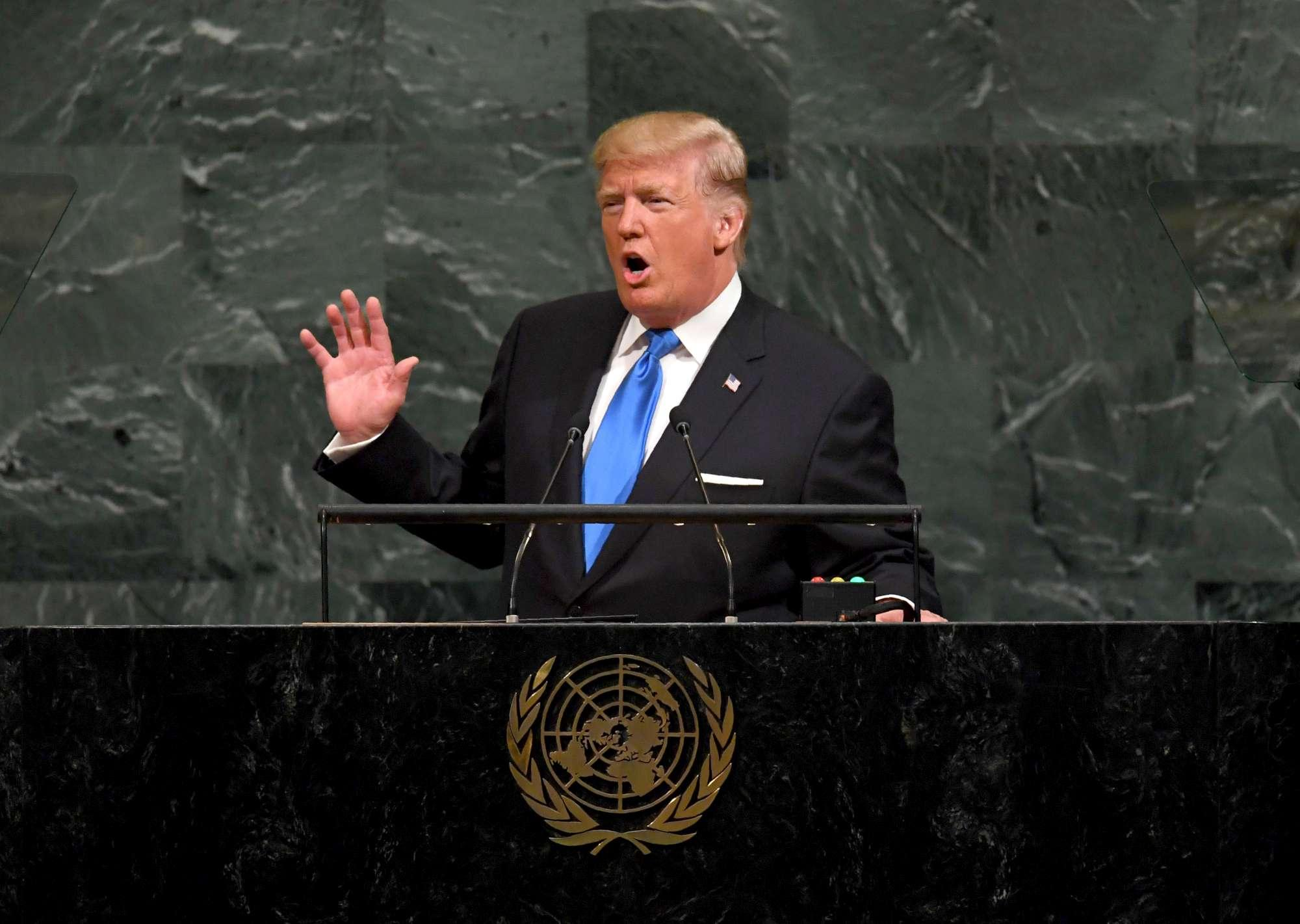 Il debutto di Donald Trump all Onu
