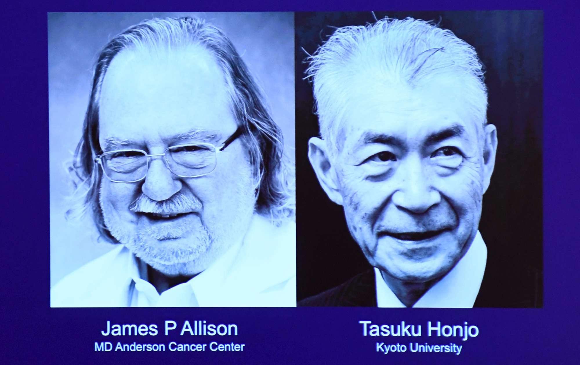 Il Nobel per la Medicina a James Allison e Tasuku Honjo