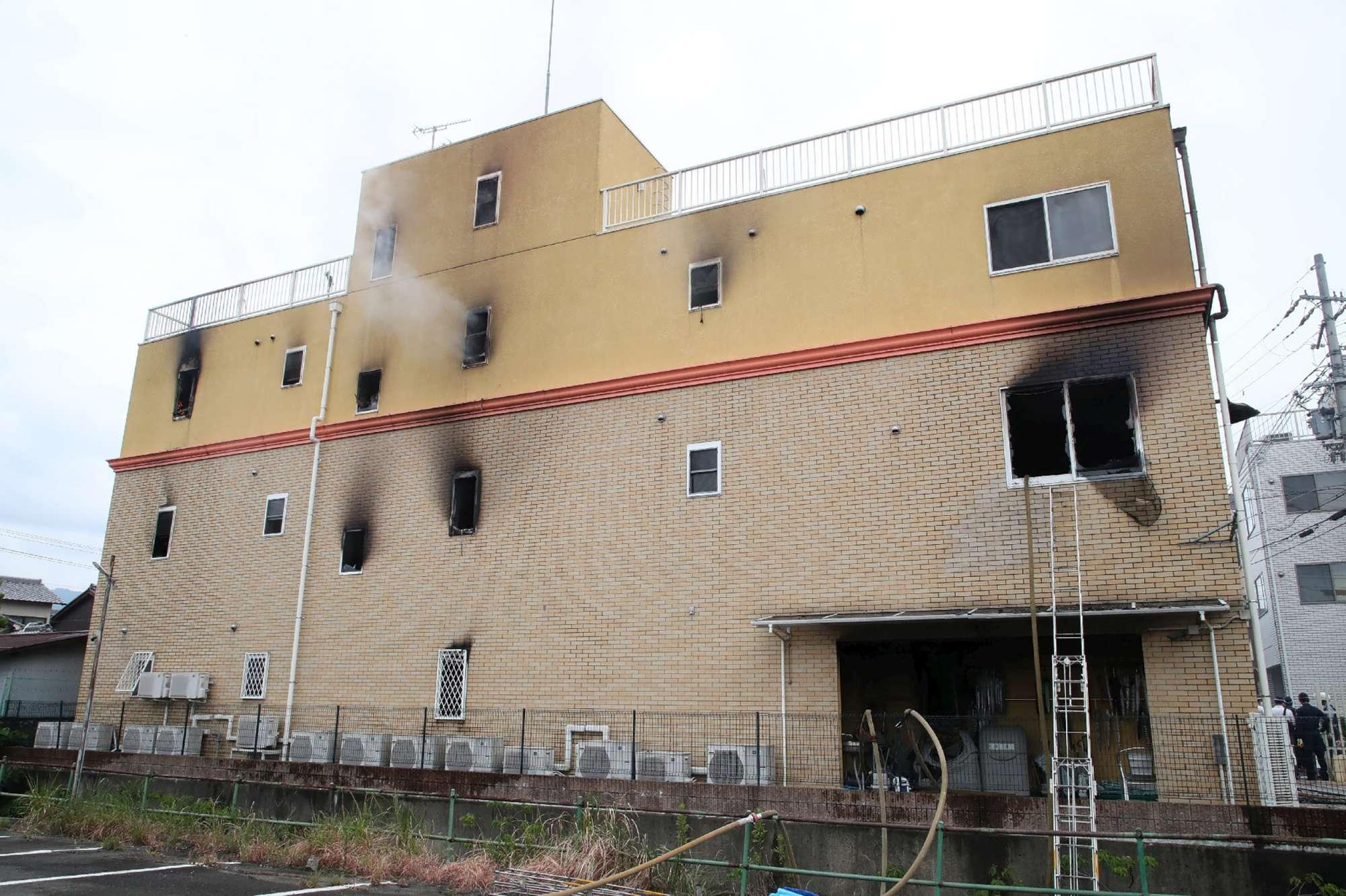 Giappone, incendio distrugge uno studio di animazione a Kyoto