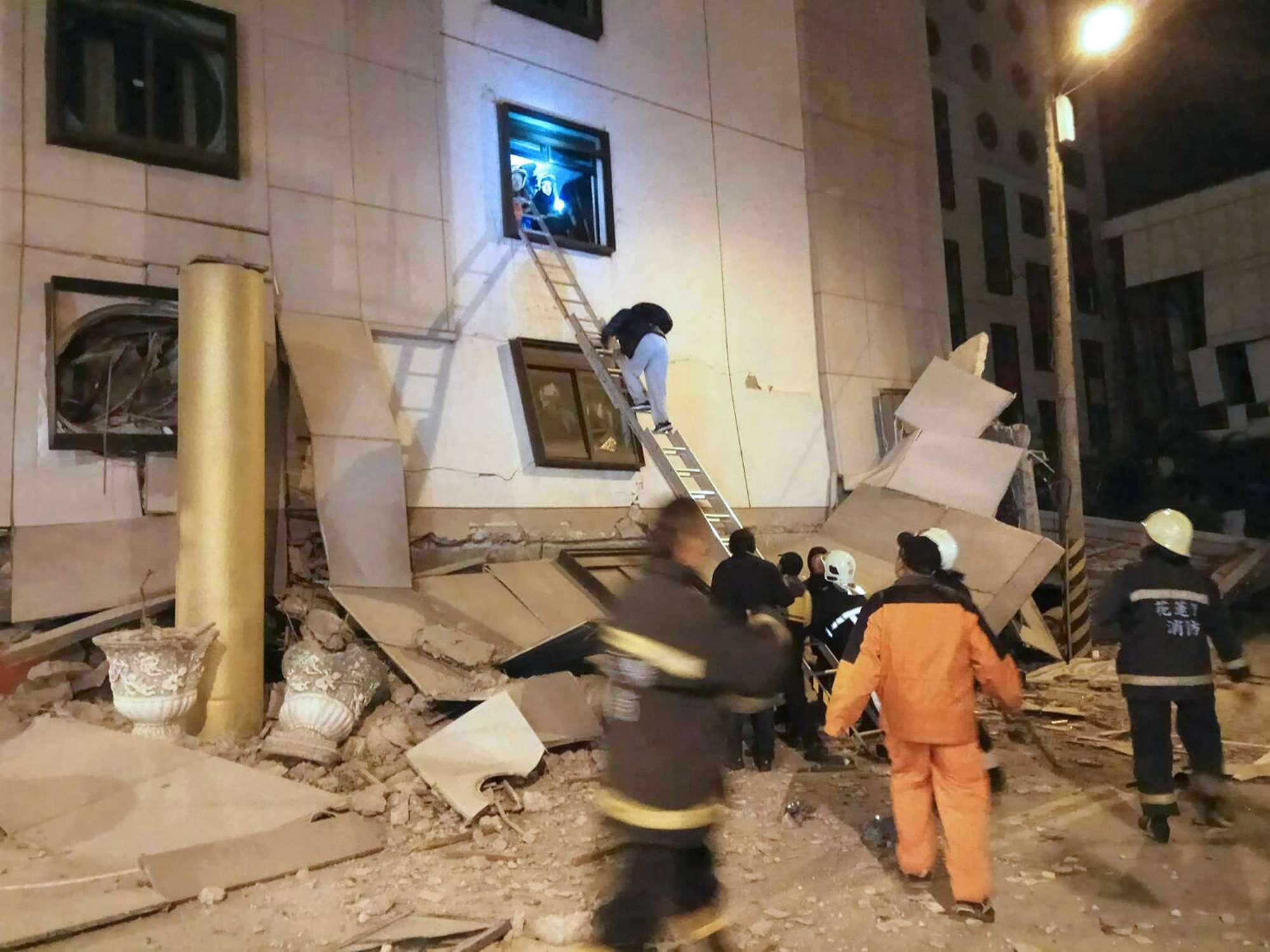 Terremoto in Taiwan: crolli e danni
