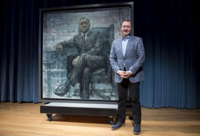 House of Cards , il ritratto di Kevin Spacey nella galleria presidenziale