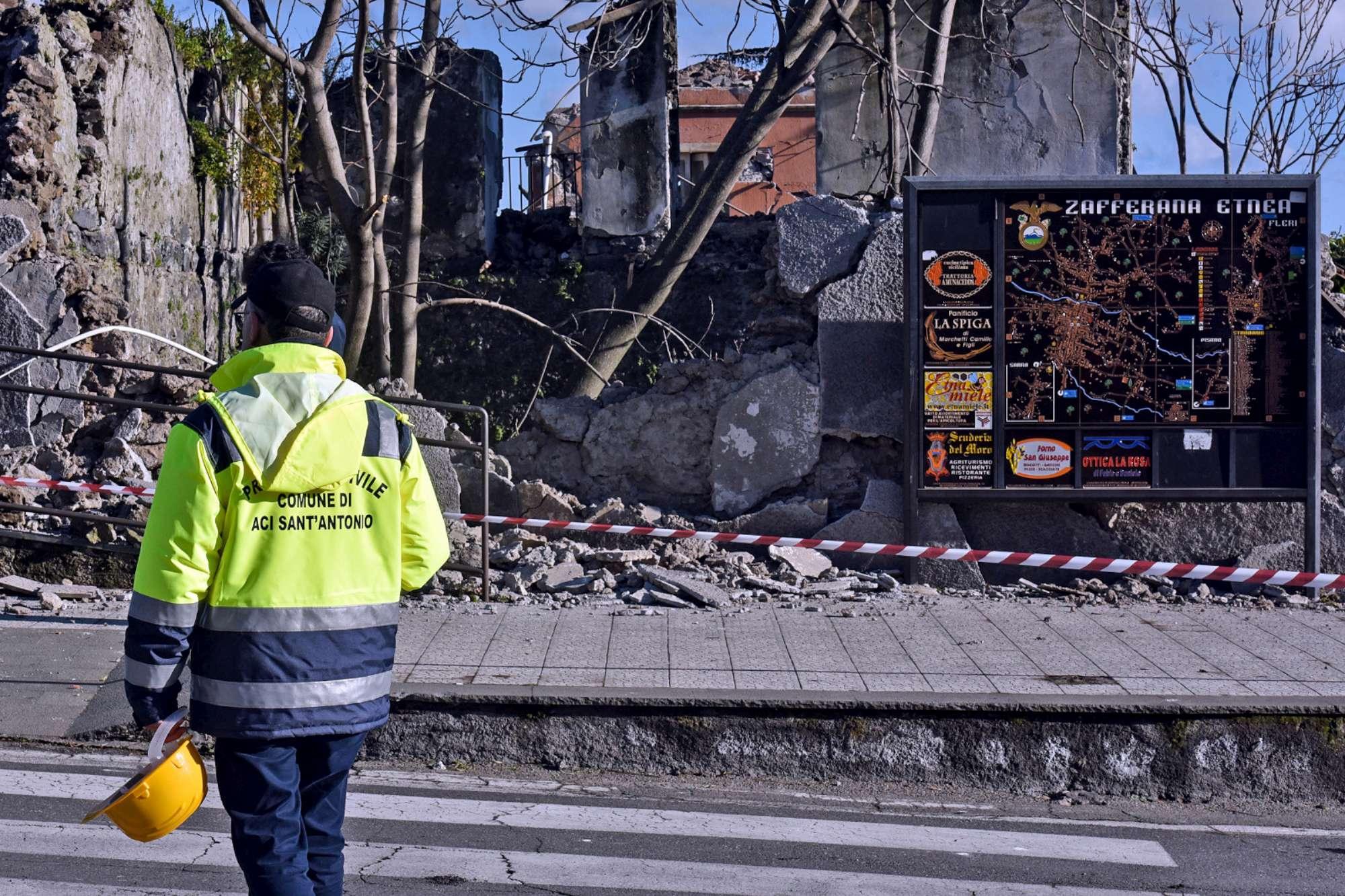 Sisma a Catania, gravi danni a Fleri (Zafferana Etnea)