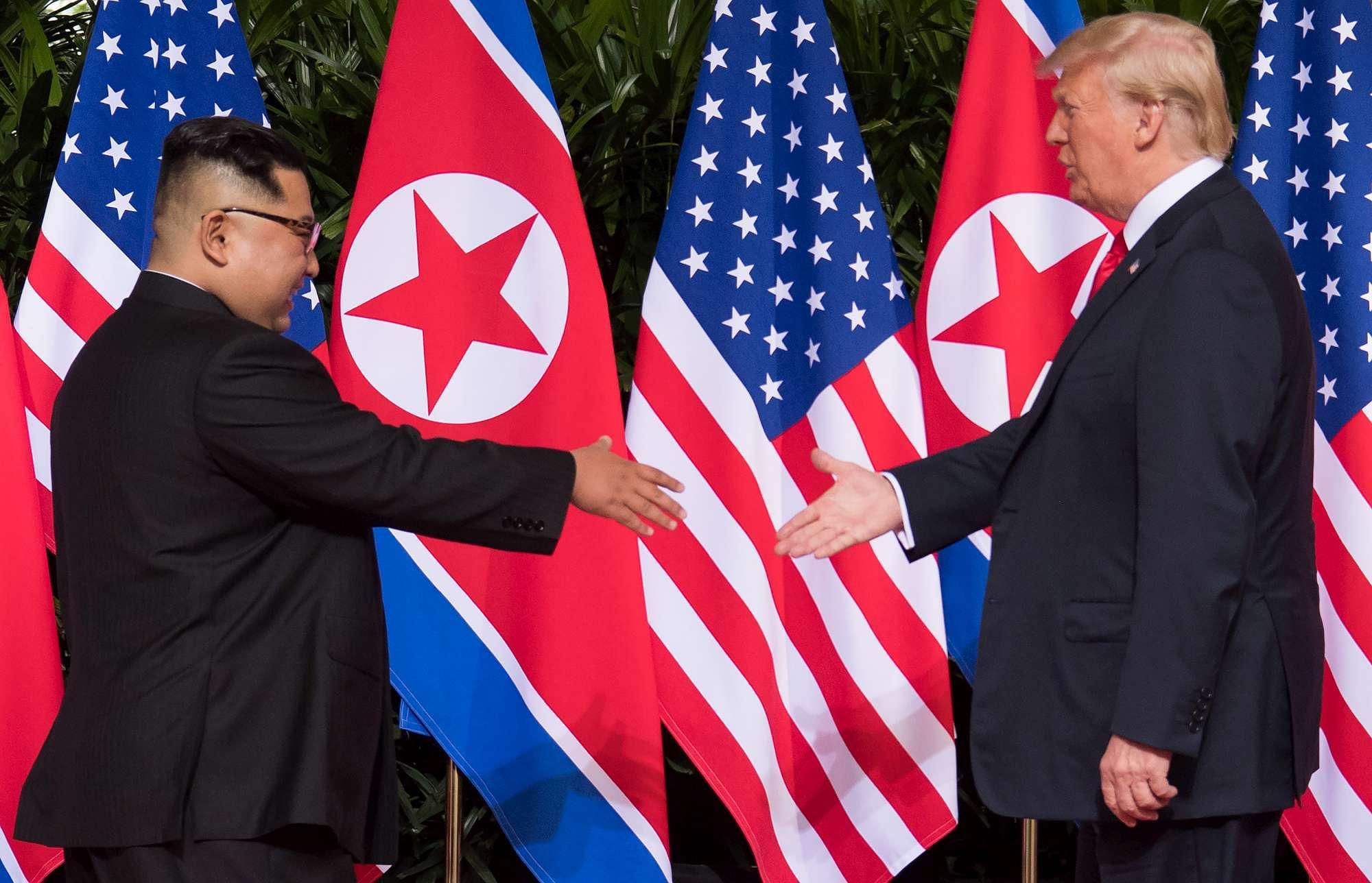 Singapore, Kim a Trump: