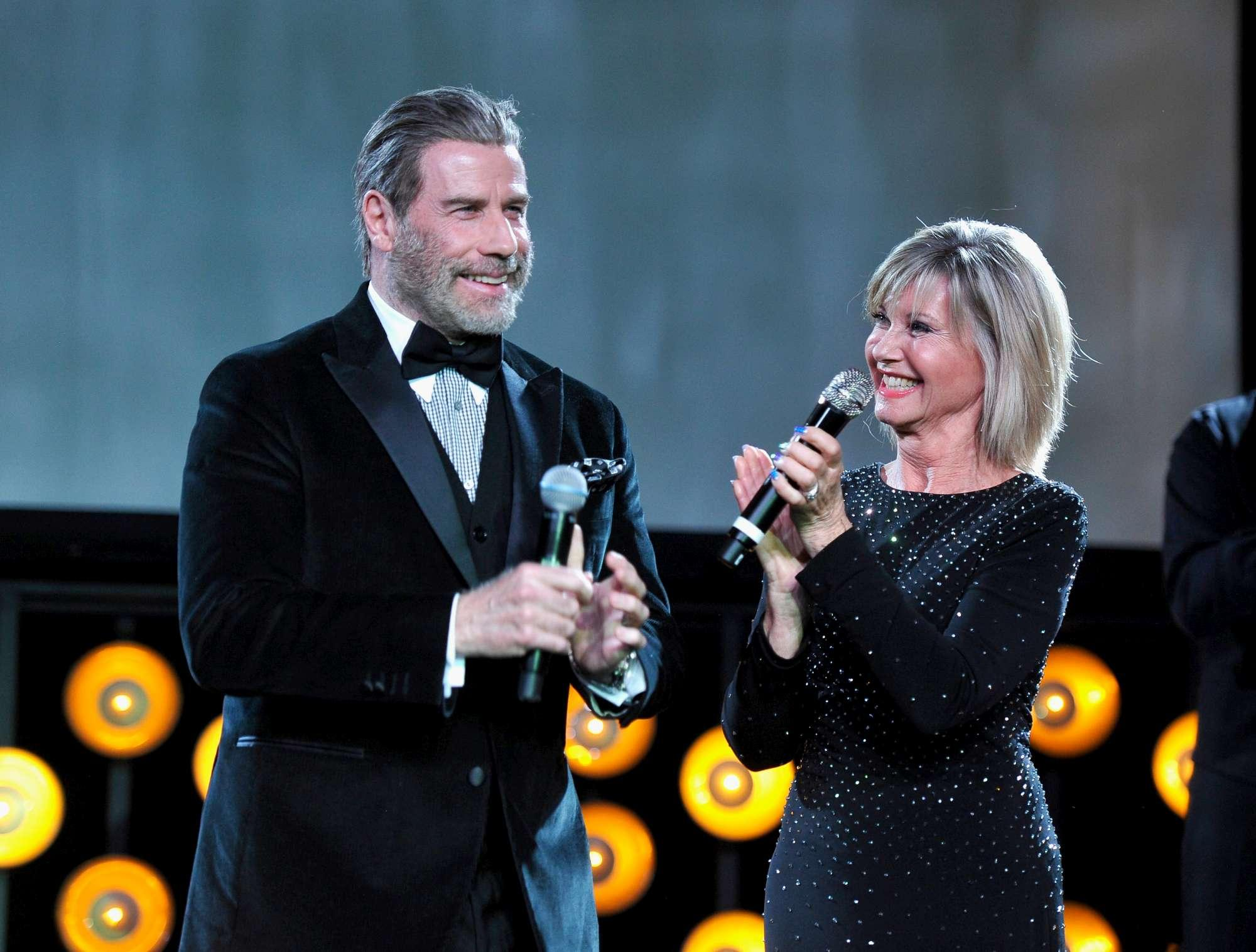John Travolta e Olivia Newton-John ... 40 anni dopo  Grease