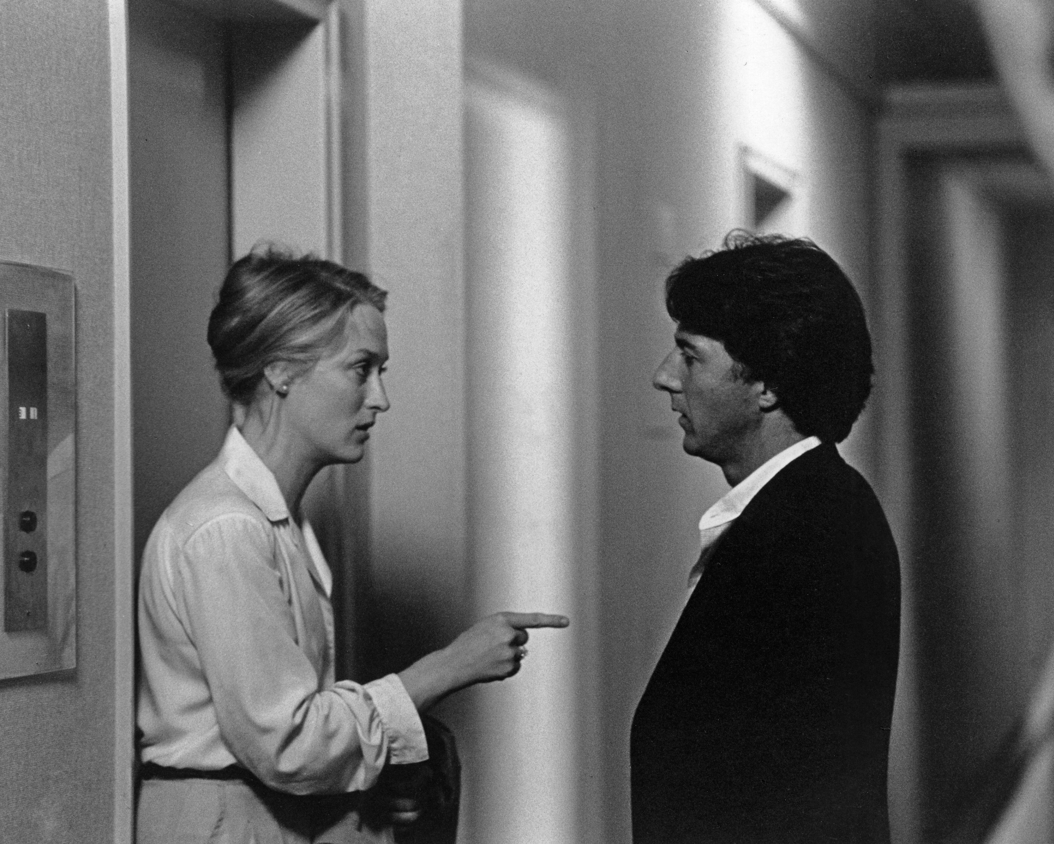 Meryl Streep e Dustin Hoffman insieme sul set