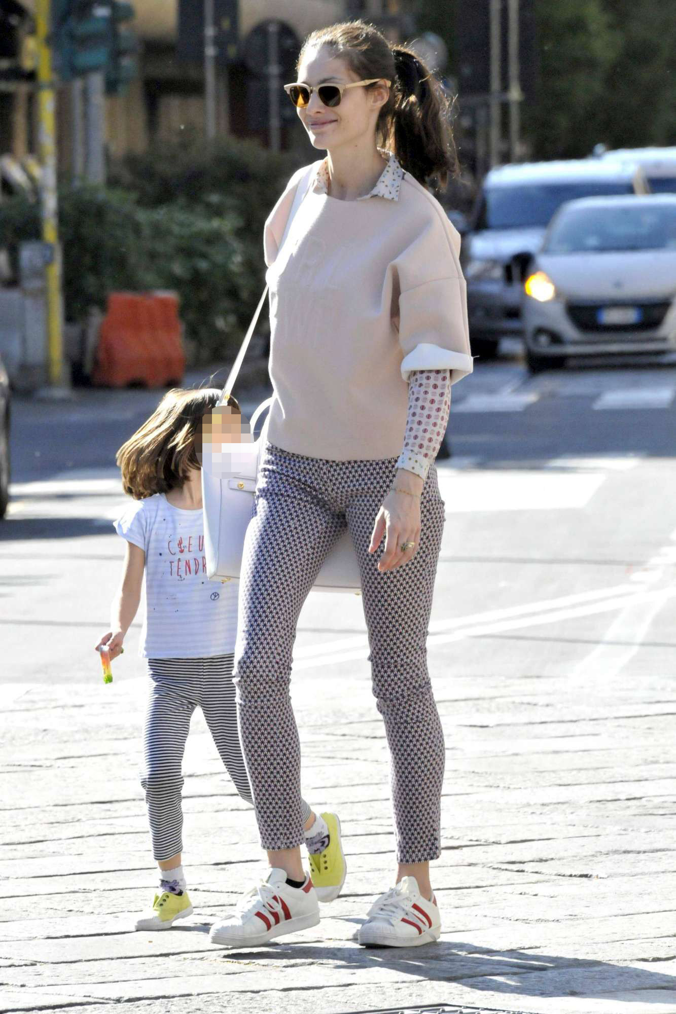 Marica Pellegrinelli e la figlia: Raffaela è identica a papà Eros