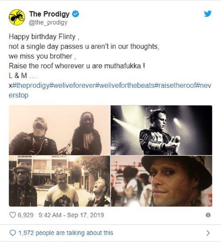 The Prodigy ricordano Keith Flint nel giorno del suo 50esimo compleanno