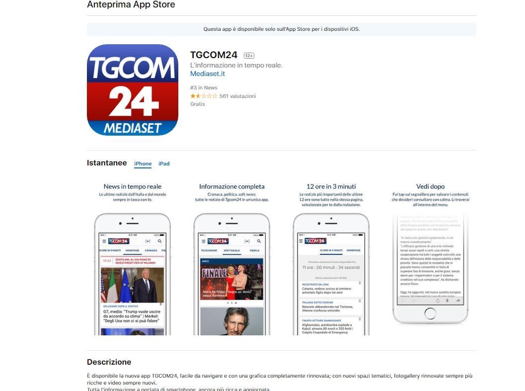 Scopri come ricevere le notifiche dell app di Tgcom24